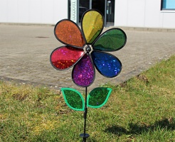 12 in. Rainbow Holographic Flower