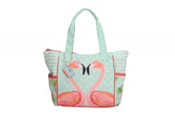 "PE-Florence Schultertasche ""Flamingo"""