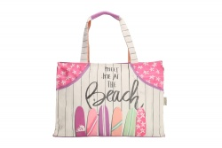"PE-Florence Rectangular Shopper ""Meet me at the Beach"""