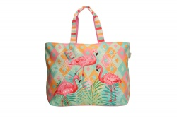 "PE-Florence XL Shopper ""Tropical Flamingo"""