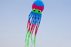 Octopus Kite 8m New Design blau