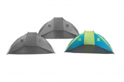 Beach shelter 270cm green-blue