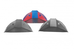 Beach shelter 270cm blue-red