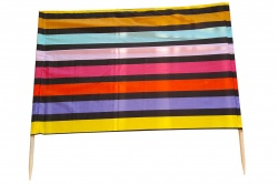 Wind protection 5m black - rainbow