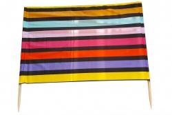 Windschutz 5m schwarz-rainbow