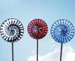 Spiral wheel blue
