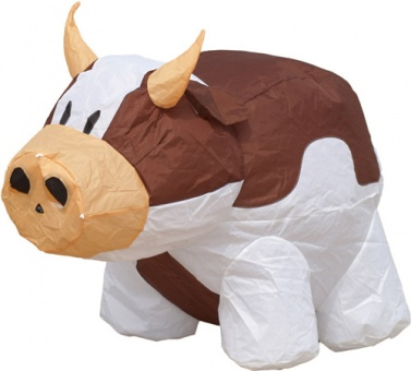 Bouncing Buddy Cow brown/white