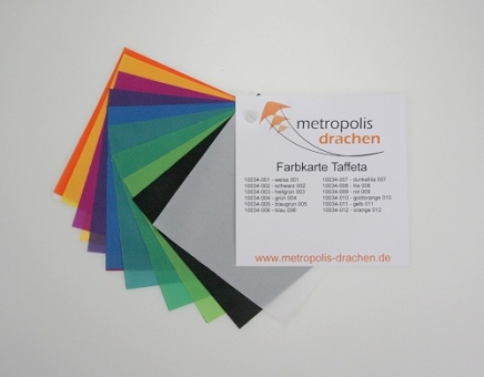 "Colour sample card ""Taffeta Nylon"""