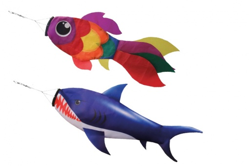 Fish with pole Shark