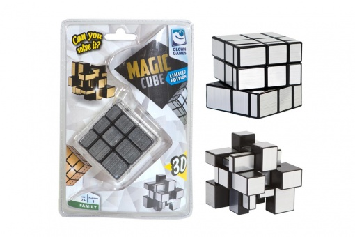 Clown Magic Cube 3D silver