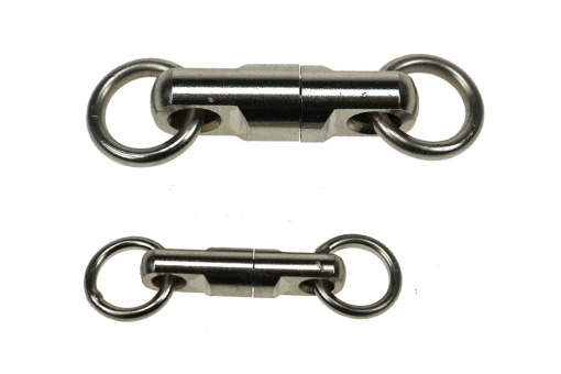 Brass ball bearing swivel, nickel-plated big