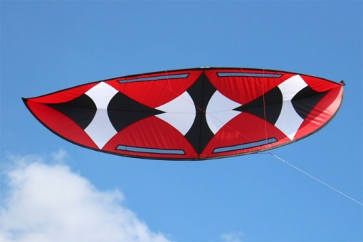 Moon Kite schwarz/weiss/rot