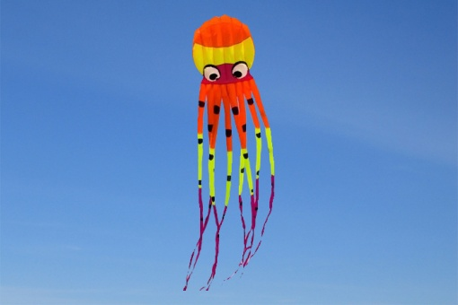 Octopus Kite 8m New Design orange