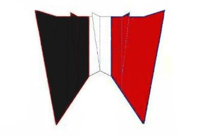 Parafoil 20 schwarz-weiss-rot