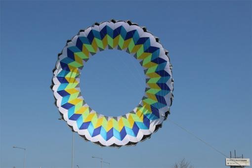 Ring Kite 6m white-blue-yellow