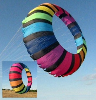 Ring Kite 2,7m rainbow-black