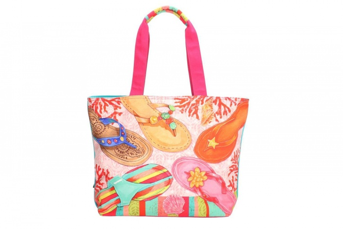 "PE-Florence Shopper ""Colourful Flipflops"""
