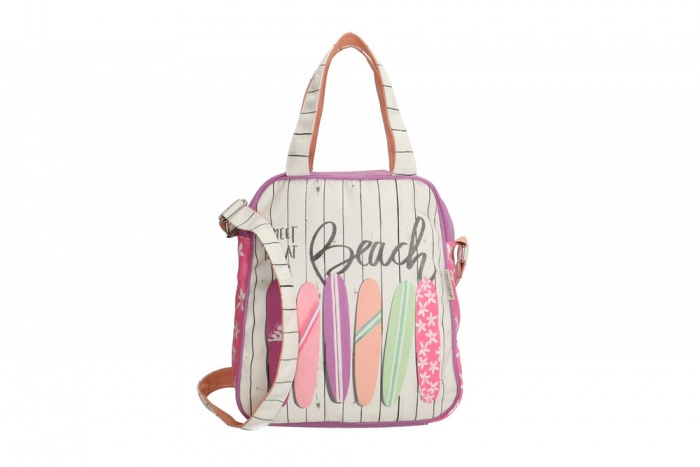 "PE-Florence hand- / shoulder bag ""Meet me at the Beach"""