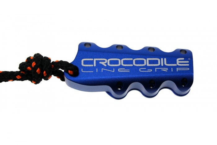 Crocodile Line Grip Blau