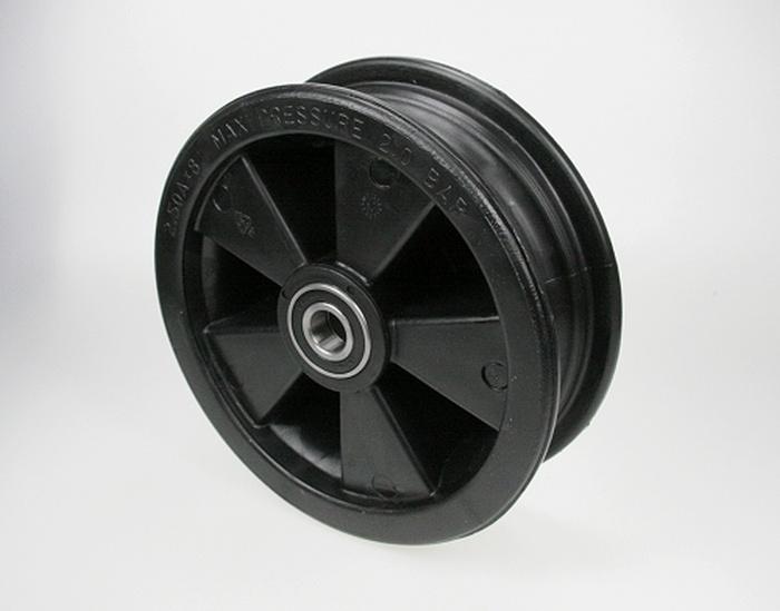 Kunststofffelge 2.50x8 12mm Achse (20mm Lager mit Adapterhülsen)