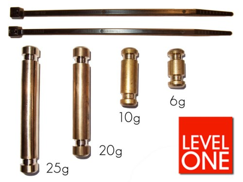 Brass weight outer 10 gr.
