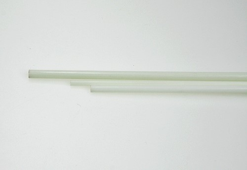Fiberglass rod smooth surface 5 x 2000mm, white