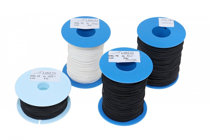 Liros DSL 70 daN, black, 100m spool