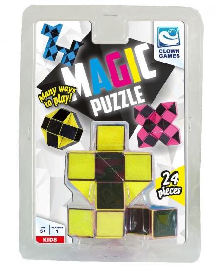 Clown Magic Puzzle 3D 24 pieces yellow