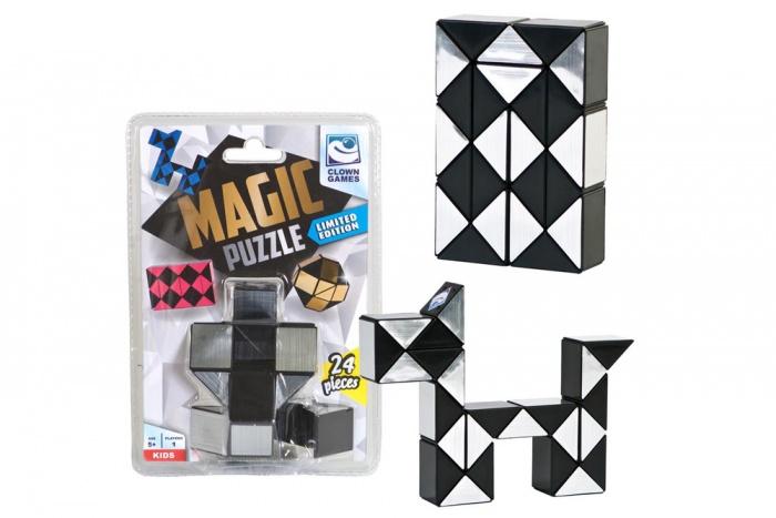 Clown Magic Puzzle 3D silver 24 pieces