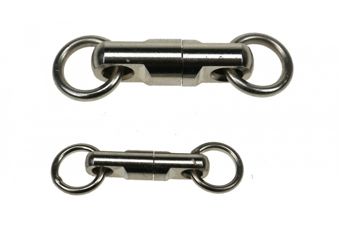 Brass ball bearing swivel, nickel-plated small