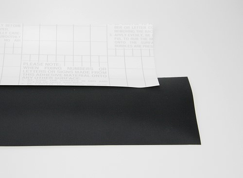 Number cloth (self-adhesive dacron) black, p.m.