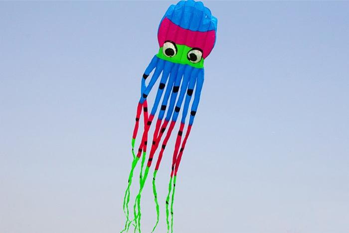Octopus Kite 8m New Design blue