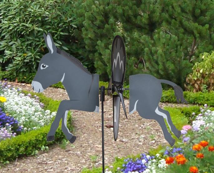 Petite windmill donkey