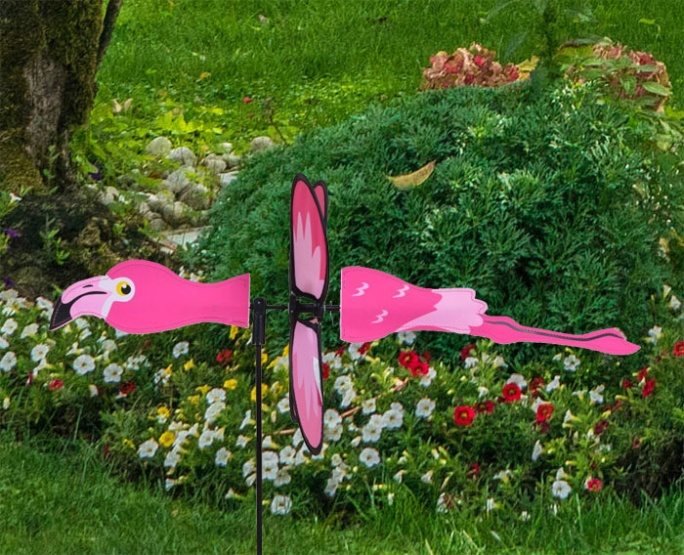 Petite windmill flamingo