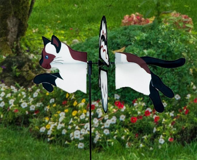 Petite windmill siamese cat