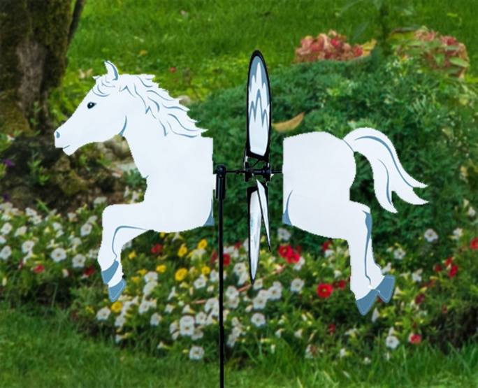 Petite windmill white horse