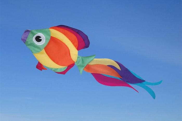 Rainbow Fisch Windsack