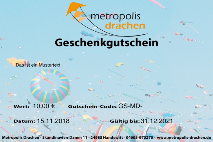 E-Mail voucher card