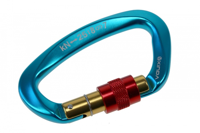 Screwable snap hook 25kN - blue