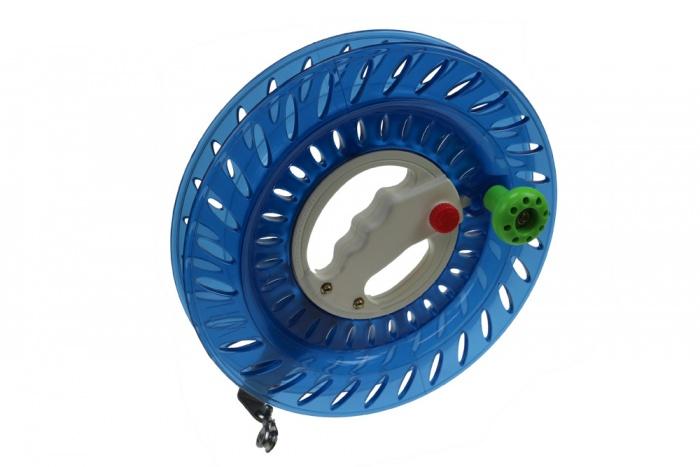 Wickelspule Kunststoff 24cm blau