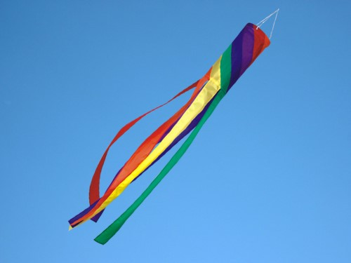 Windsock spiral rainbow L