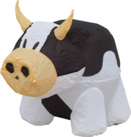 Bouncing Buddy Cow black/white