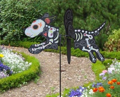 Petite windmill Day of the Dead Dog