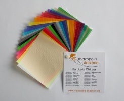 "Colour sample card ""Chikara"""