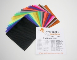 "Colour sample card ""Elltex"""