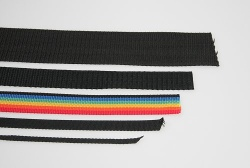 Webbing 10mm, black, p.m.