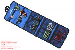 Karabiner-Tasche blau