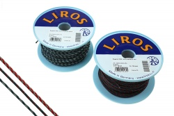 Liros Trim line HighQuality Regatta 2000, 2mm, 270daN, steel blue-white, p.m.