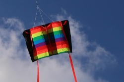 Windfoil Kites rainbow stripes